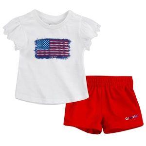 Crayola Stars & Stripes baby girl's shorts set